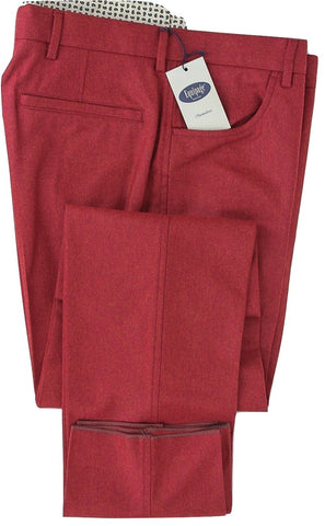 Equipage - Red Wool Flannel Pants - PEURIST