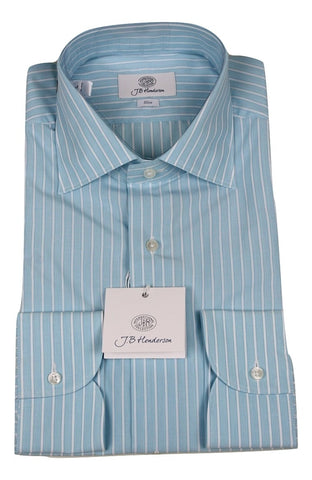 JB Henderson - Aquamarine Striped Shirt [FS] - PEURIST
