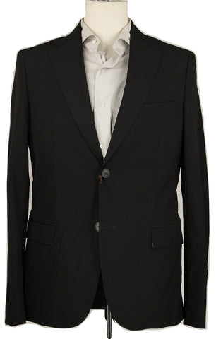 Royal Hem - Black Lightweight Wool Suit - PEURIST
