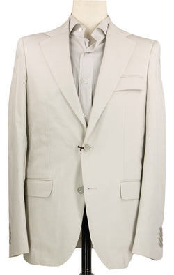 Royal Hem - Stone Cotton Twill Suit - PEURIST