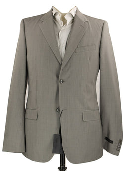 Calvin Klein Collection - Taupe Check Wool Suit - PEURIST