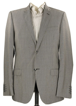 Calvin Klein Collection - Black Pinstripe Wool Blazer - PEURIST