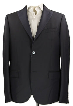 Royal Hem - Navy Wool Blazer w/Contrast Lapel