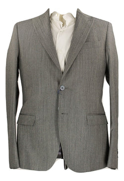 Royal Hem - Gray Birdseye Wool Blazer - PEURIST