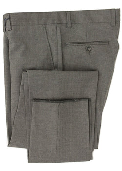 Royal Hem - Charcoal Wool Pants w/Faint Stripe - PEURIST