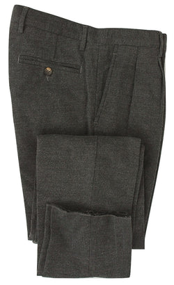 Royal Hem - Black & Gray Birdseye Cotton Pants - PEURIST