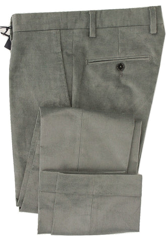 Royal Hem - Gray Corduroy Dress Pants - PEURIST