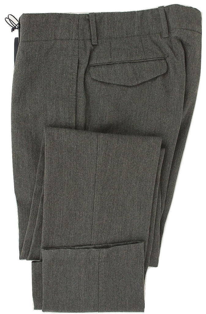 Royal Hem - Dark Gray Wool Cargo Pants - PEURIST