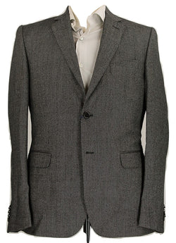 Royal Hem - Black & Gray Speckled Wool Suit