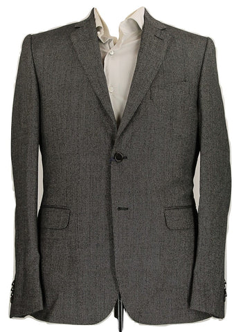 Royal Hem - Black & Gray Speckled Wool Suit - PEURIST