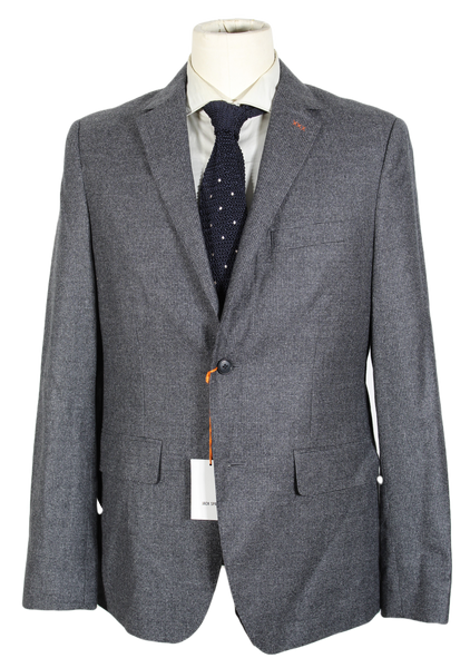 Jack Spade – Gray & Charcoal Shadow Check Wool Flannel Blazer