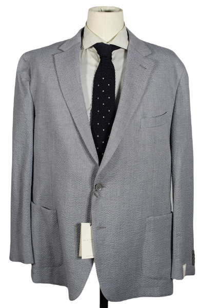 Jack Victor – Light Gray Cotton Seersucker Blazer
