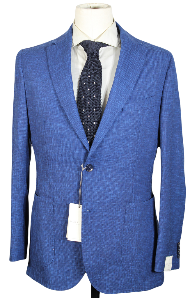 Jack Victor – Royal Blue Lightweight Wool/Cotton Blazer