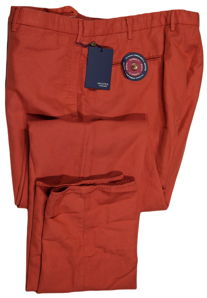 Incotex – Orange Chinolino Pants