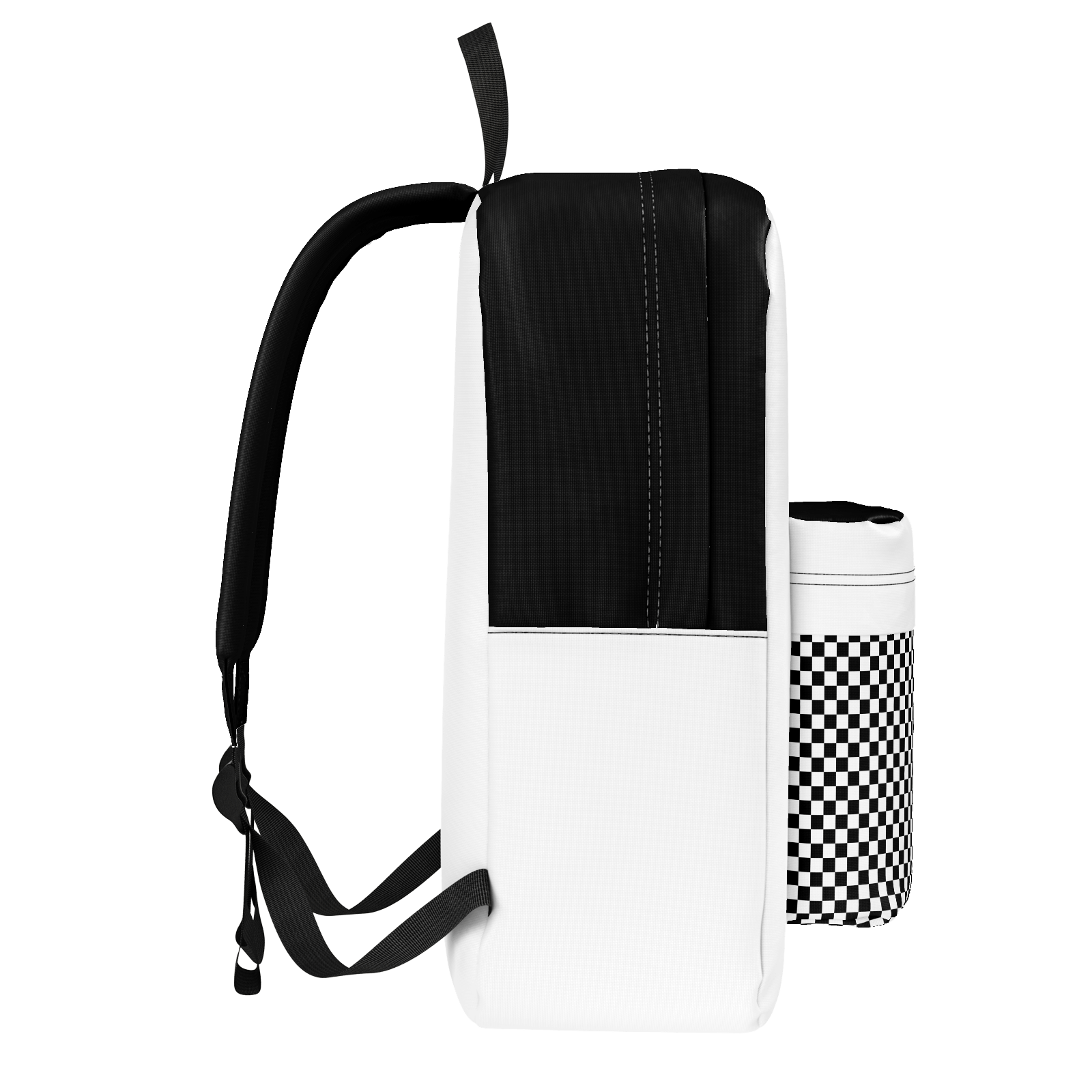 White & Black Checkered BackPack