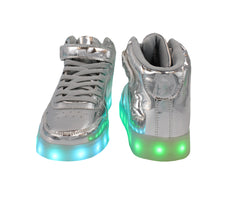 High Top Women USB Lace & Strap LED Shoes
