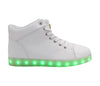 High Top Men LED USB Charging Shoes