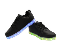 Low Top Casual (Black) - LED SHOE SOURCE,  Shoes - Fashion LED Shoes USB Charging light up Sneakers Adults Unisex Men women kids Casual Shoes High Quality