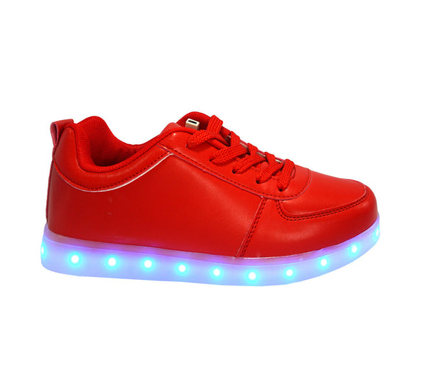 Red low top Led light up shoes. Simillar to air force ones nike. 7 different light up colors, great for EDM parties.