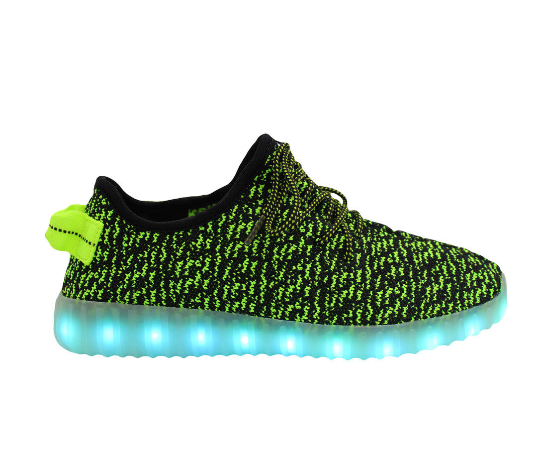 Sport Knit (Green) - LED SHOE SOURCE,  Shoes - Fashion LED Shoes USB Charging light up Sneakers Adults Unisex Men women kids Casual Shoes High Quality