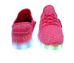 Sport Knit (Pink) - LED SHOE SOURCE,  Shoes - Fashion LED Shoes USB Charging light up Sneakers Adults Unisex Men women kids Casual Shoes High Quality