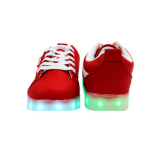 Low Top Sport (Red) - LED SHOE SOURCE,  Shoes - Fashion LED Shoes USB Charging light up Sneakers Adults Unisex Men women kids Casual Shoes High Quality