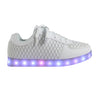 Low Top Fashion Walker (White) - LED SHOE SOURCE,  Shoes - Fashion LED Shoes USB Charging light up Sneakers Adults Unisex Men women kids Casual Shoes High Quality