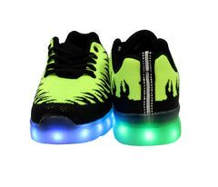 Inferno Sport (Lime Green) - LED SHOE SOURCE,  Shoes - Fashion LED Shoes USB Charging light up Sneakers Adults Unisex Men women kids Casual Shoes High Quality