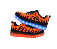 Inferno Sport (Orange) - LED SHOE SOURCE,  Shoes - Fashion LED Shoes USB Charging light up Sneakers Adults Unisex Men women kids Casual Shoes High Quality