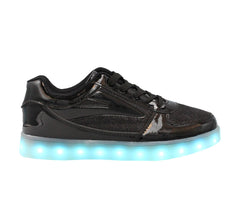 Low Top Fusion (Black) - LED SHOE SOURCE,  Shoes - Fashion LED Shoes USB Charging light up Sneakers Adults Unisex Men women kids Casual Shoes High Quality