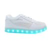 Kids Low Top Fusion (White) - LED SHOE SOURCE,  Shoes - Fashion LED Shoes USB Charging light up Sneakers Adults Unisex Men women kids Casual Shoes High Quality