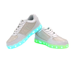 Low Top Fusion (White) - LED SHOE SOURCE,  Shoes - Fashion LED Shoes USB Charging light up Sneakers Adults Unisex Men women kids Casual Shoes High Quality