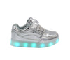Kids Low Top Shine (Silver) - LED SHOE SOURCE,  Shoes - Fashion LED Shoes USB Charging light up Sneakers Adults Unisex Men women kids Casual Shoes High Quality