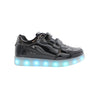 Kids Low Top Shine (Black) - LED SHOE SOURCE,  Shoes - Fashion LED Shoes USB Charging light up Sneakers Adults Unisex Men women kids Casual Shoes High Quality