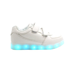 Kids Low Top Casual (White) - LED SHOE SOURCE,  Shoes - Fashion LED Shoes USB Charging light up Sneakers Adults Unisex Men women kids Casual Shoes High Quality