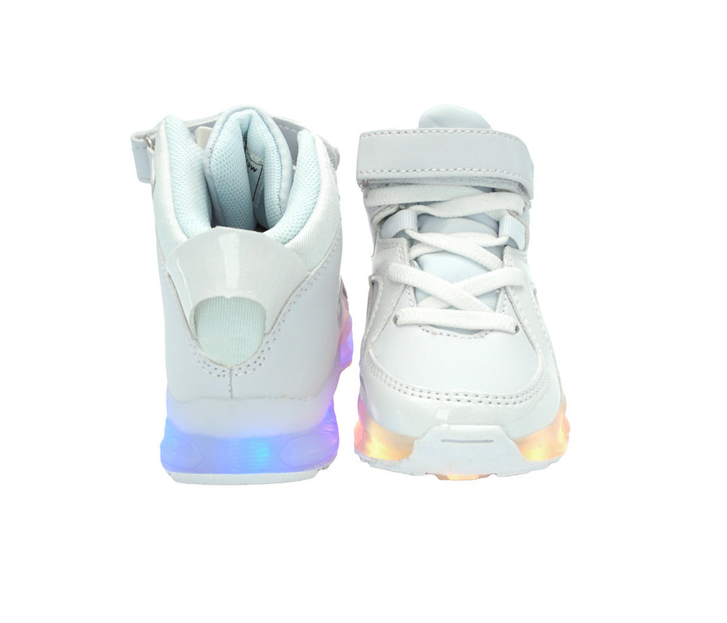 LED Light Up Shoes | White Jet High Top