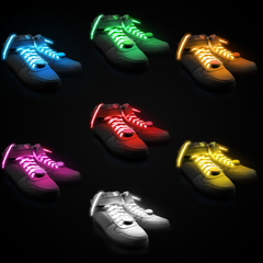LED Light Up Shoelaces Orange