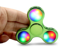 LED Shiny Fidget Spinner with Power Button - LED SHOE SOURCE,  Spinner - Fashion LED Shoes USB Charging light up Sneakers Adults Unisex Men women kids Casual Shoes High Quality