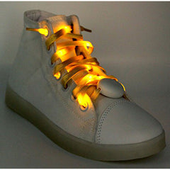 LED Light Up Shoelaces Yellow