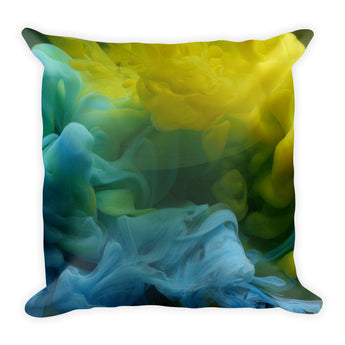 Blue Yellow Ink - Square Pillow