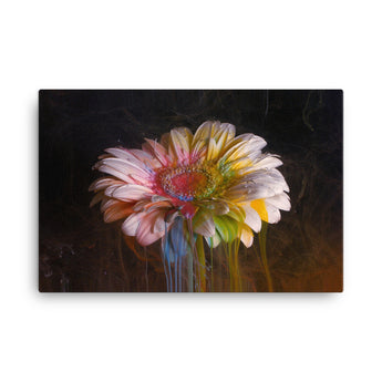 Flower Ink Drops - Canvas