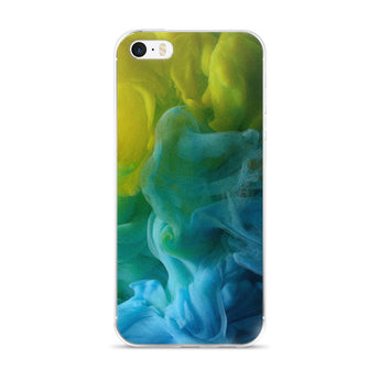 Blue Yellow Ink - iPhone Case