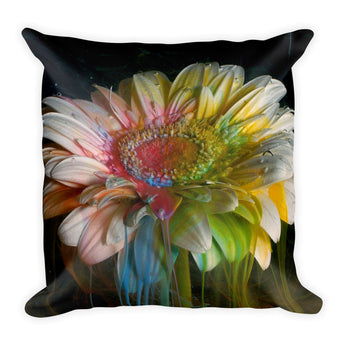 Flower Ink Drops - Pillow