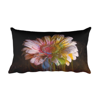 Flower Ink Drops Pillow