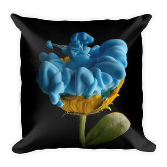 Blue Ink Flower - Pillow
