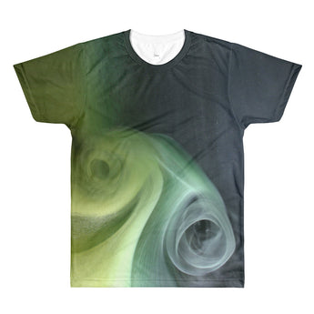 Deep Black Green Ink - men crewneck t-shirt
