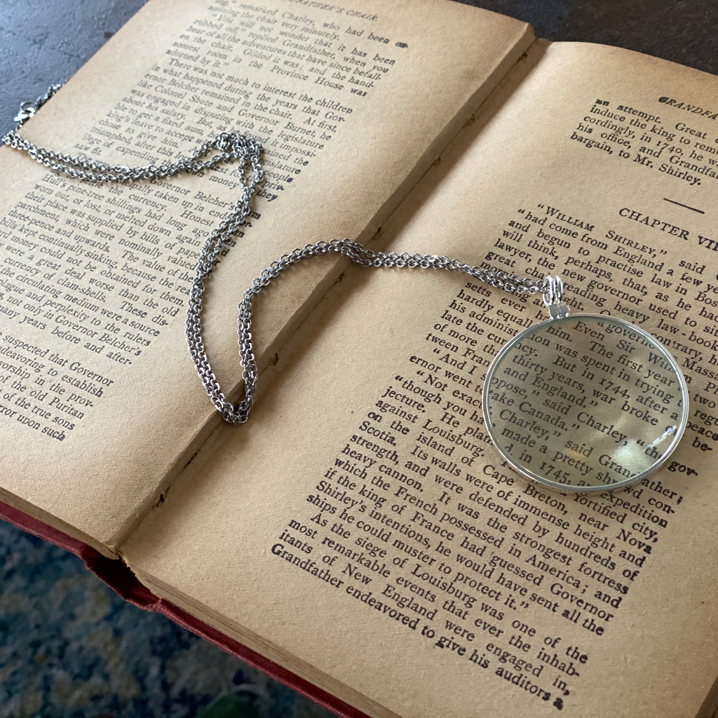Monocle Necklace - Silver