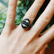 Vintage Zodiac Cameo Ring - Pisces