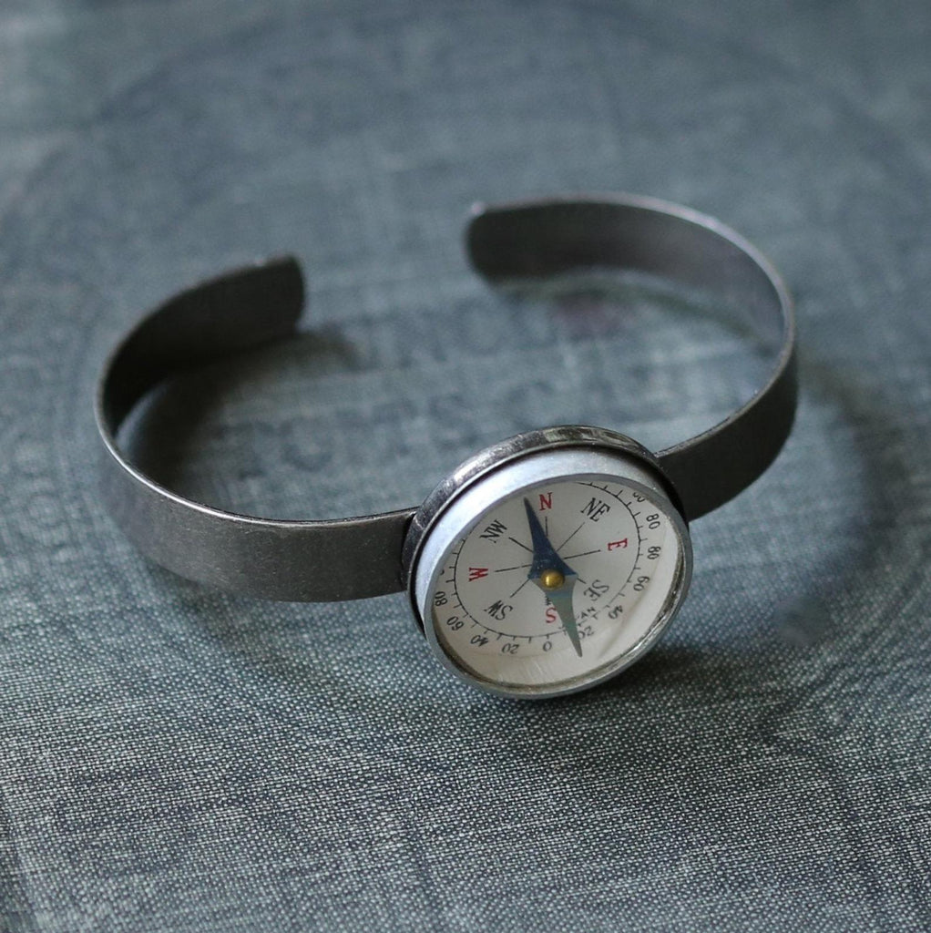 Compass Cuff Adjustable Bracelet Unisex