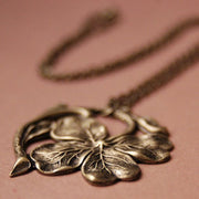 Irish Shamrock Necklace in Silver or Brass